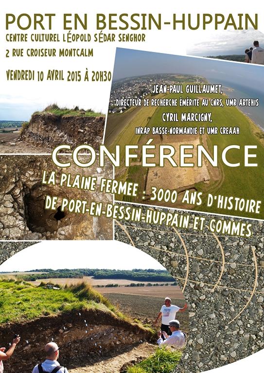 affiche conférence fouilles