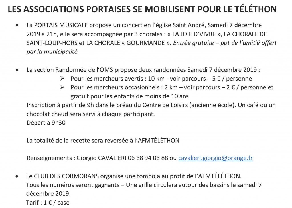 telethon annonce asso