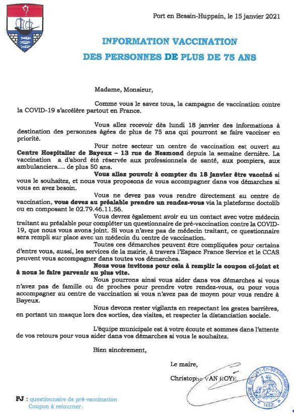 lettre vaccin